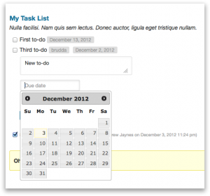 Adding a new to-do